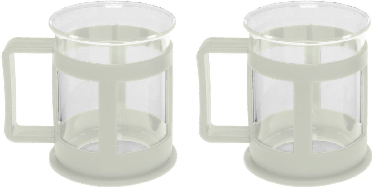 Набор кружек Доляна Классика, цвет: молочный, 200 мл, 2 шт115510Практичный набор кружек пригодится каждому человеку. Поставьте его на кухне, возьмите с собой на работу, в поход или путешествие: качественные изделия не подведут вас.Достоинства:удобный пластиковый подстаканник защищает стеклянный корпус;ручка не нагревается от горячих напитков;изделие легко мыть;необычный дизайн освежает интерьер.При необходимости стеклянная часть кружки может быть извлечена.Делайте свою жизнь комфортнее!