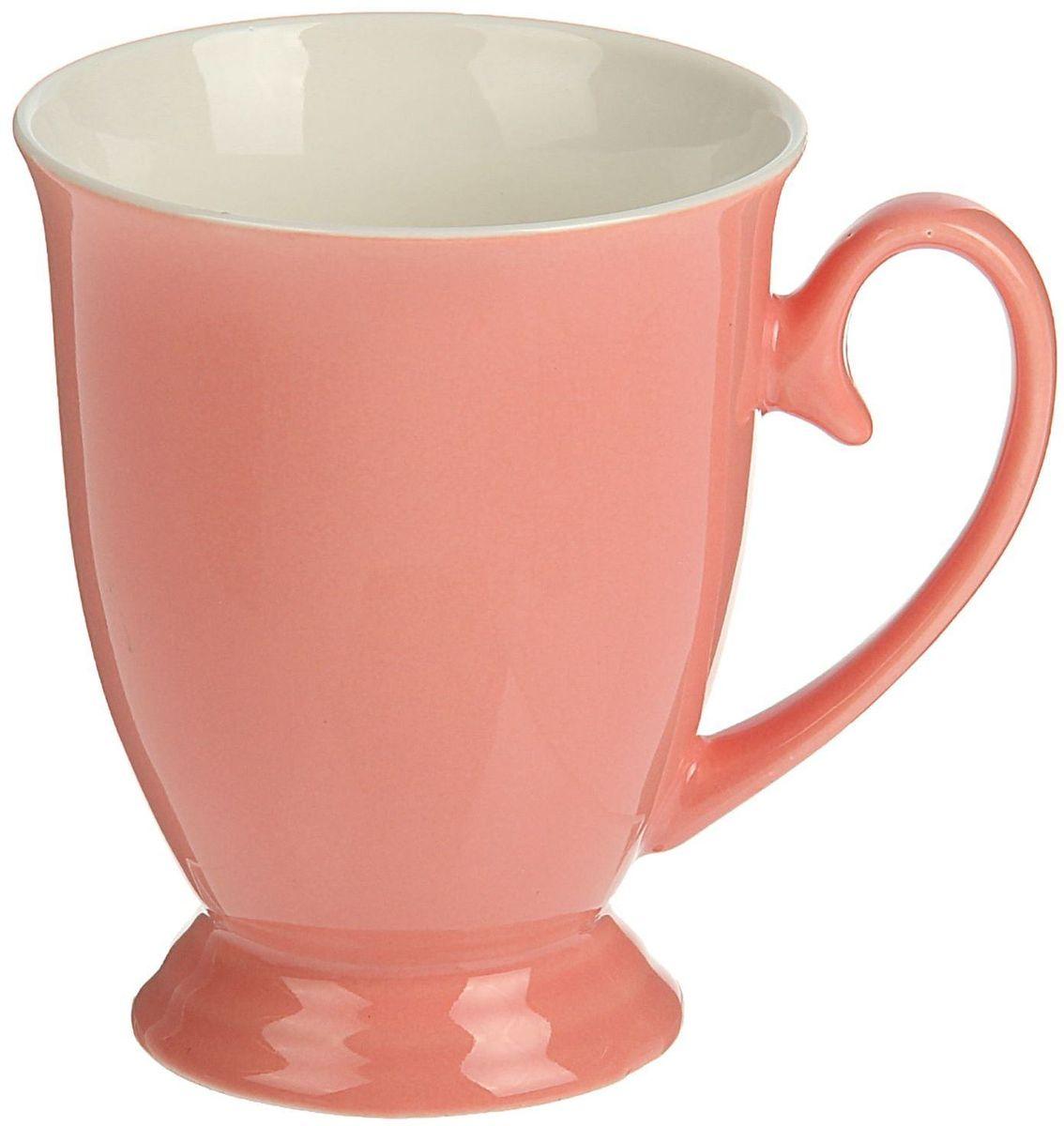 Кружка Доляна Венеция, цвет: розовый, 300 мл54 009312Кружка Доляна Венеция изготовлена из керамики. Кружка станет отличным подарком для родных и близких. Это любимый аксессуар на долгие годы. Относитесь к изделию бережно, и оно будет дарить прекрасное настроение каждый день.