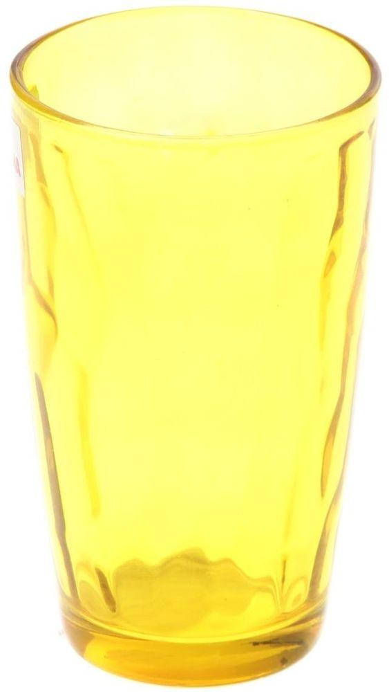 Стакан Доляна Венский вальс, цвет: желтый, 340 млVT-1520(SR)Стеклянные изделия серии «Венский вальс» подходят для повседневного использования. Стакан из стекла, окрашенного в яркий цвет методом напыления, порадует каждого ценителя оригинальности.Достоинства:оригинальный дизайн делает предметы украшением интерьера;материал не впитывает запахов;поверхность легко отмывается.Чтобы предметы радовали внешним видом как можно дольше, соблюдайте правила ухода:мойте только вручную;избегайте использования высокоабразивных средств и металлических губок;не допускайте падений и ударов.Окружайте себя красивой посудой и будьте в хорошем настроении!