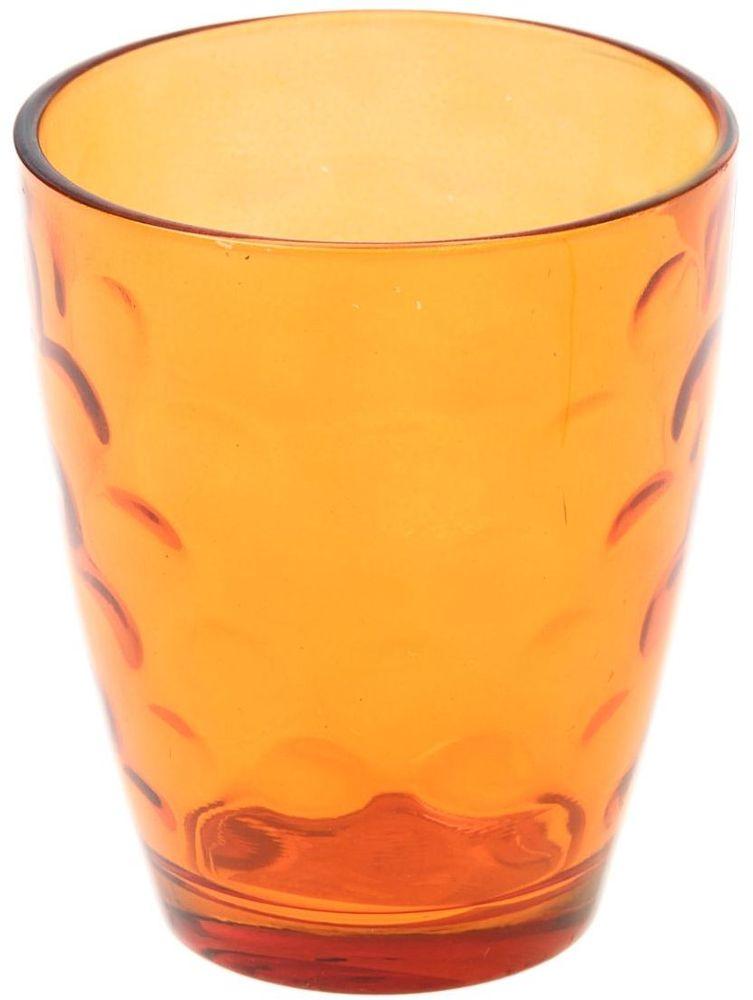 Стакан Доляна Венский вальс, цвет: оранжевый, 400 млVT-1520(SR)Стеклянный стакан Доляна Венский вальс подходит для повседневного использования. Стакан из стекла, окрашенного в яркий цвет методом напыления, порадует каждого ценителя оригинальности.Достоинства:- оригинальный дизайн делает предметы украшением интерьера;- материал не впитывает запахов;- поверхность легко отмывается.Чтобы предметы радовали внешним видом как можно дольше, соблюдайте правила ухода:мойте только вручную;избегайте использования высокоабразивных средств и металлических губок;не допускайте падений и ударов.