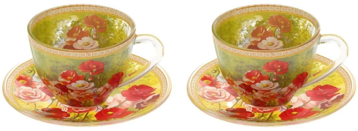 Набор чайный Доляна Летнее настроение, 4 предметаVT-1520(SR)Чаепитие с родными и близкими — пожалуй, одно из лучших форм времяпрепровождения. Сделать его ещё приятнее можно с помощью красивой посуды.Чайный набор «Летнее настроение» — это изысканные стеклянные чашки и блюдца, которые буквально ласкают взор. Долго можно любоваться нежными, умиротворяющими рисунками... Из таких чашек и напиток кажется вкуснее, и даже конфета, лежащая на блюдце, становится будто бы чуть слаще!Кроме того, стеклянная посуда обладает рядом практических достоинств: термостойкостью, экологичностью и прочностью. Именно этим объясняются преимущества предметов набора:возможность обработки в СВЧ-печи,пригодность к мойке в посудомоечной машине,экологическая безопасность материалаНе рекомендуется:помещать посуду на открытый огонь и в морозильную камеру,допускать падение посуды с большой высоты.В набор входят 4 предмета:чашка 220 мл — 2 шт.,блюдце — 2 шт.Друзья и родные непременно оценят ваши старания по созданию уютной атмосферы. Заказывайте набор «Летнее настроение» на нашем сайте, и пусть регулярные дружеские чаепития войдут в привычку!