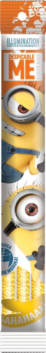 Миньоны драже в соломинке для молока со вкусом банана, 13,5 гРФ14862Упакованные в пачки из полипропиленовой пленки по 3 трубочки. Принцип действия: просто опустите соломинку в стакан молока (200 мл) и наслаждайтесь приятным напитком.