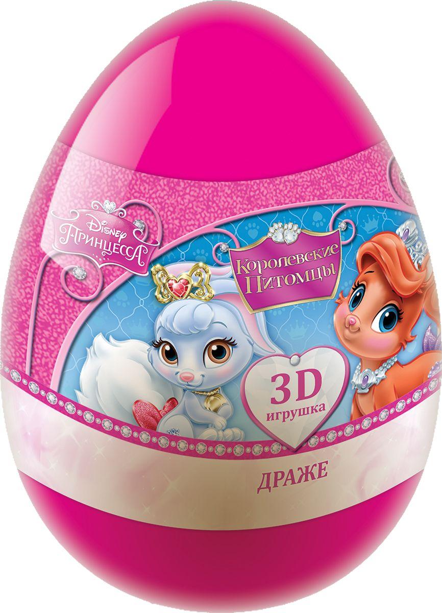 Конфитрейд Disney Palace Pets фруктовое драже с игрушкой, 20 г0120710Драже со вкусом клубники, яблока, лимона с подарком в наборе (пластиковое яйцо).