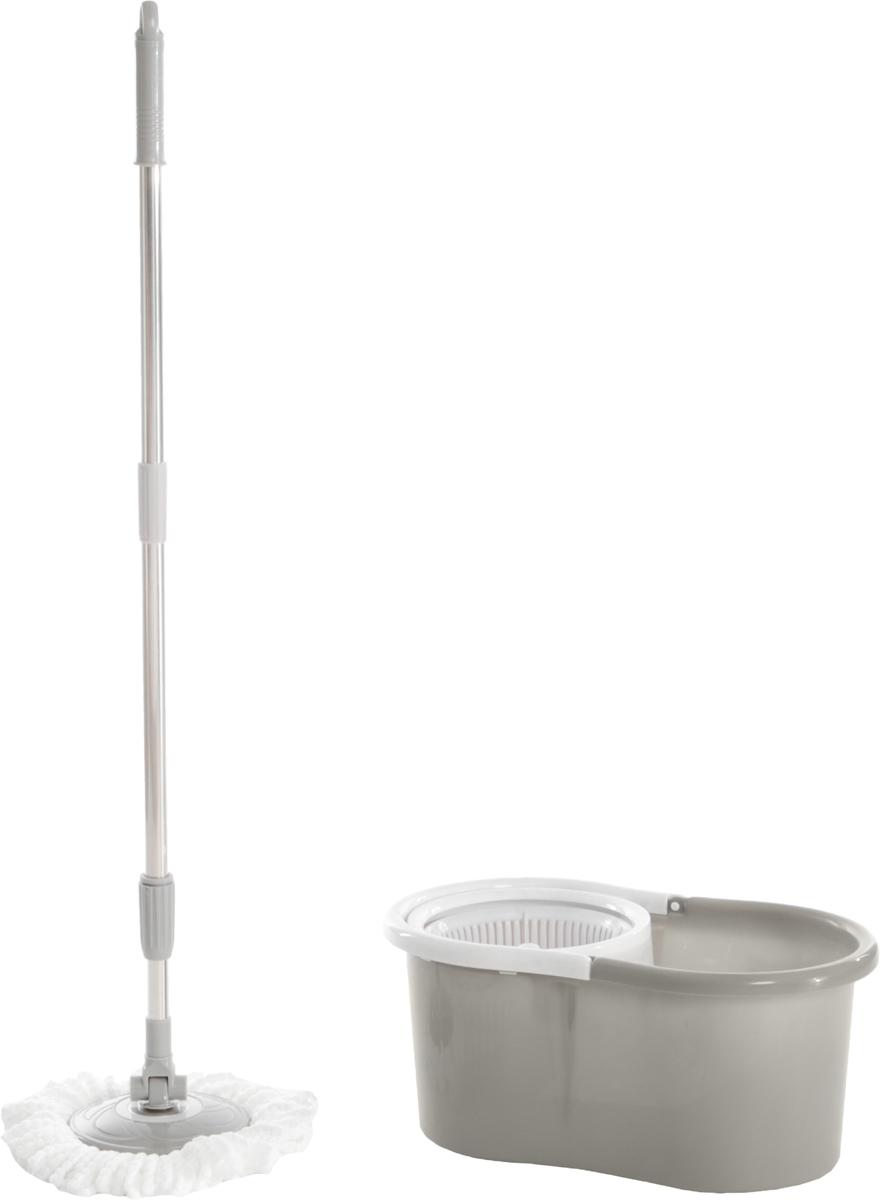 Швабра-вертушка Bradex Торнадо Хенди, цвет: светло-серый, белый, стальнойTD 0220_светло-серый, белый, стальнойШвабра для пола Торнадо обладает крутящейся насадкой из микрофибры, обеспечивающей отличное впитывание грязи и жидкости во время уборки. Благодаря специальному ведру со встроенной центрифугой, уборка станет быстрой и гигиеничной, так как Вы сможете выжимать швабру в предназначенном для этого ведре, не пачкая руки При необходимости любую насадку можно стирать с помощью стиральной машины, а лёгкий вес и телескопическая ручка Торнадо делают швабру удобной в эксплуатации.Комплектация: швабра, 2 насадки из микрофибры, ведро, инструкция. Объём ведра: 5 л. Материал: пластик, металл, микрофибра. Тип отжима: механический. Вес: 1,08 кг.Размер: 45 х 30 х 28,5 см.