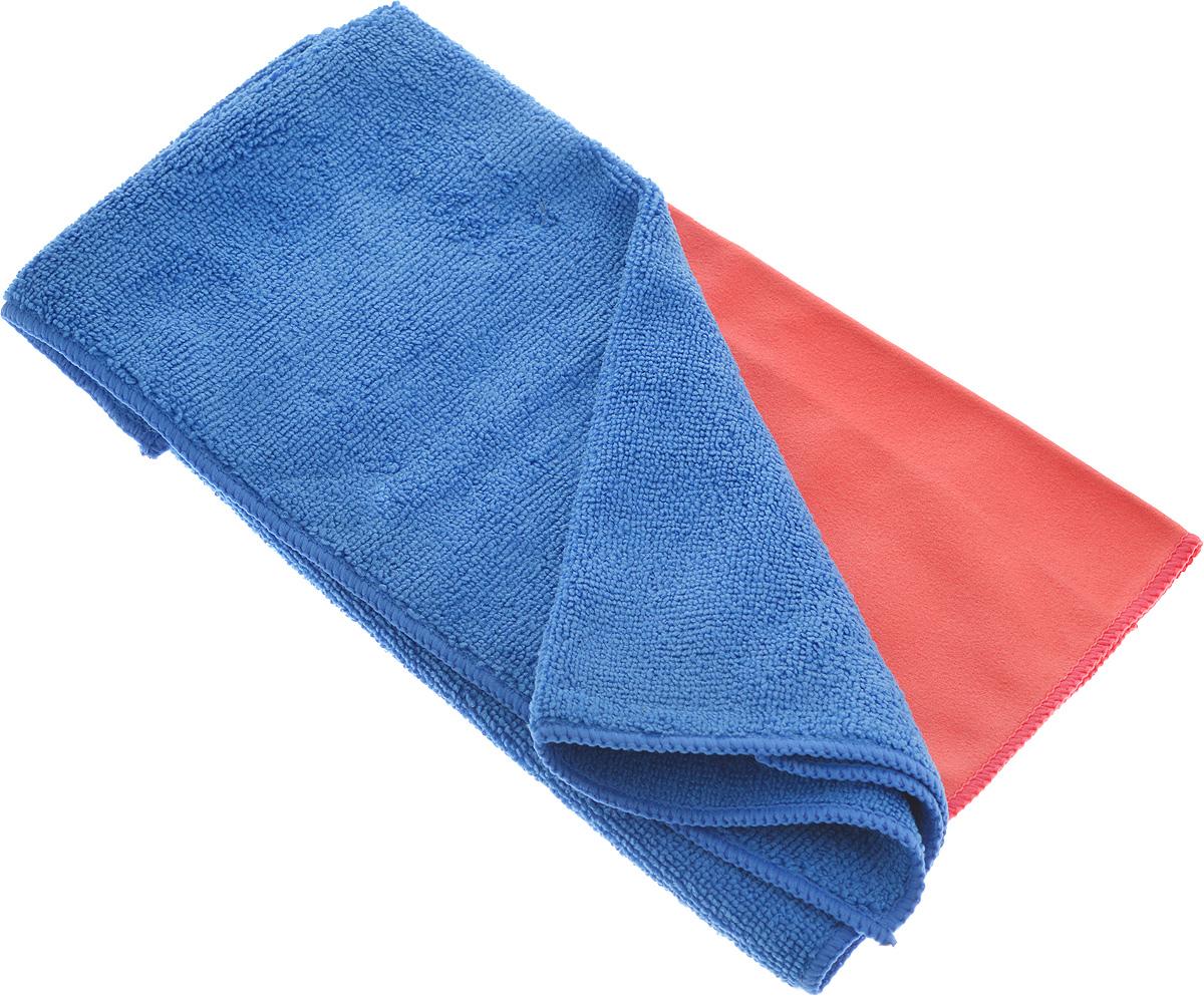 Салфетка чистящая Sapfire Cleaning Сloth & Suede, цвет: коралловый, синий, 35 х 40 см, 2 штRC-100BWCБлагодаря своей уникальной ворсовой структуре, салфетки Sapfire Cleaning Сloth прекрасно подходят для мытья и полировки автомобиля.Материал салфеток: микрофибра (85% полиэстер и 15% полиамид), обладает уникальной способностью быстро впитывать большой объем жидкости. Клиновидные микроскопические волокна захватывают и легко удерживают частички пыли, жировой и никотиновый налет, микроорганизмы, в том числе болезнетворные и вызывающие аллергию. Протертая поверхность становится идеально чистой, сухой, блестящей, без разводов и ворсинок. Допускается машинная и ручная стирка слабым моющим раствором в теплой воде.Отбеливание и глажка запрещены.Размер салфеток: 35 х 40 см.
