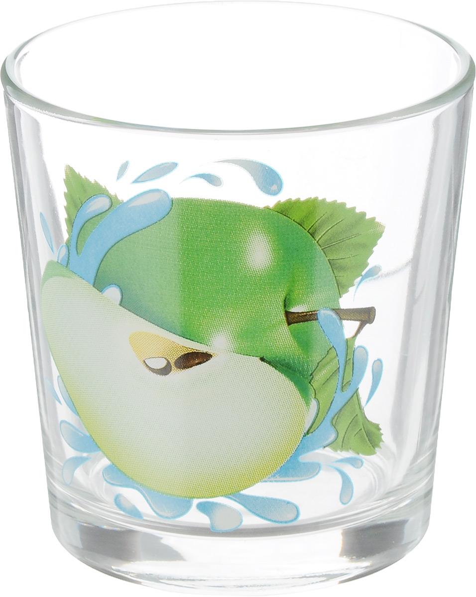 Стакан OSZ Ода. Яблоко зеленое, цвет: прозрачный, зеленый, 250 млVT-1520(SR)Стакан OSZ Яблоко зеленое изготовлен из бесцветного стекла и украшен ярким рисунком. Идеально подходит для сервировки стола. Стакан не только украсит ваш кухонный стол, но и подчеркнет прекрасный вкус хозяйки. Диаметр стакана (по верхнему краю): 8 см. Диаметр основания: 6 см. Высота стакана: 8,5 см.