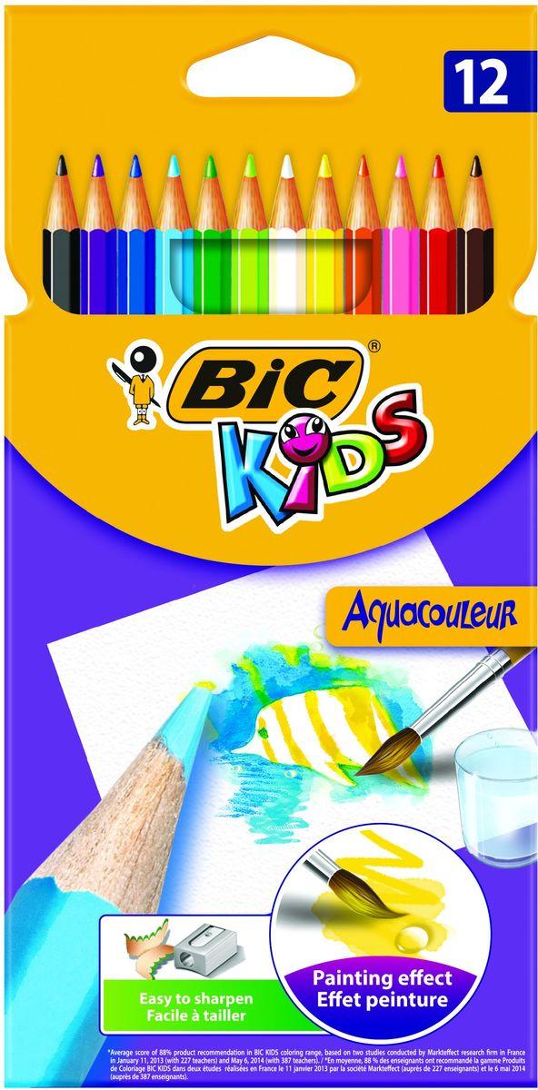 Bic Карандаши цветные Aquacouleur 12 цветов72523WDНабор из 12 акварельных карандашей. Яркие цвета, легкая затачиваемость и высокая устойчивость к поломке делают эти карандаши отличным вариантом для детей. Можно использовать как обычные карандаши, а так же, проведя по рисунку влажной кисточкой, получить эффект акварели. Карандаши изготовлены с использованием высококачественного дерева и имеют шестигранный корпус. Цветной стержень толщиной 3,2 мм. обеспечивает хорошую степень закрашивания.