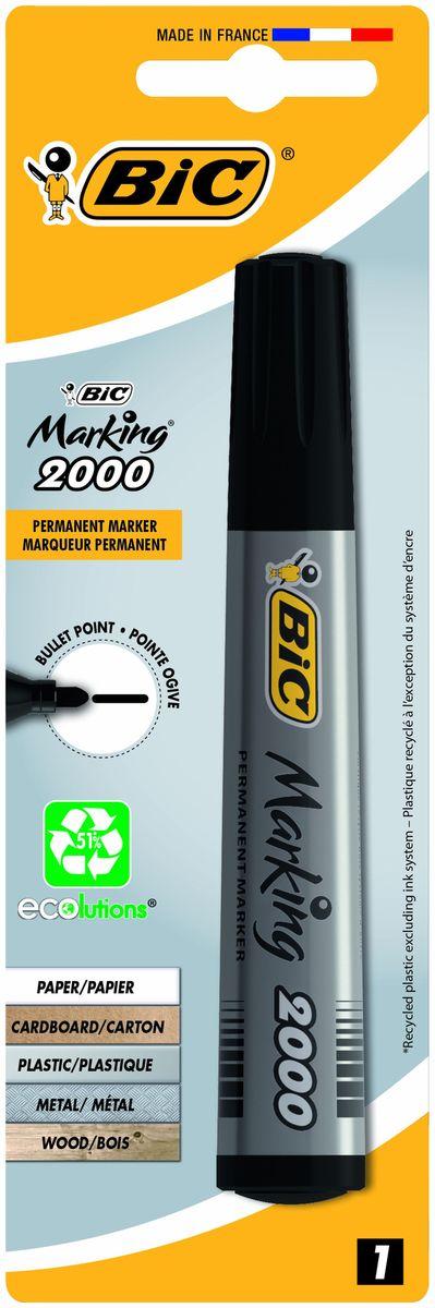Bic Маркер перманентный Marking 2000 цвет черныйB8755761Перманентный маркер Bic Marking 2000 подходит для письма на любых поверхностях.Удобный перманентный маркер с чернилами на спиртовой основе и прочным акриловым пишущим узлом позволяет наносить линии толщиной 1,7 мм. Чернила быстро высыхает, что делает этот маркер отличным для левшей.