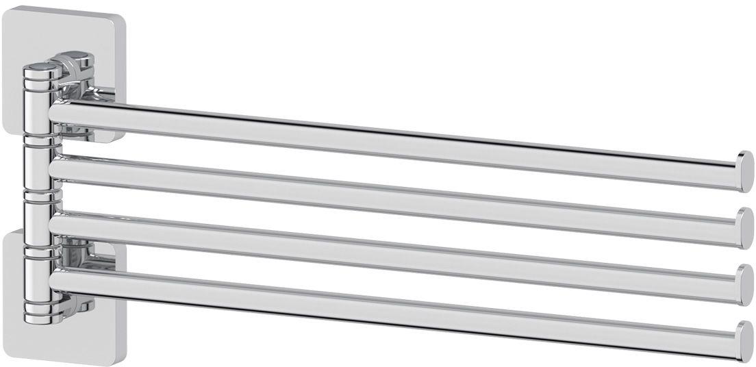 Держатель полотенец Ellux Avantgarde, поворотный, четверной, 37 см, цвет: хром. AVA 018М 2472Аксессуары торговой марки Ellux производятся на заводе ELLUX Gluck s.r.o., имеющем 20-летний опыт работы. Предприятие расположено в Злинском крае, исторически знаменитом своим промышленным потенциалом. Компоненты из всемирно известного богемского хрусталя выгодно дополняют серии аксессуаров. Широкий ассортимент, разнообразие форм, высочайшее качество исполнения и техническое?совершенство продукции отвечают самым высоким требованиям. Продукция завода Ellux представлена на российском рынке уже более 10 лет и за это время успела завоевать заслуженную популярность у покупателей, отдающих предпочтение дорогой и качественной продукции.100% made in Czech Republic Весь цикл производства изделий осуществляется на территории Чешской республики.Высококачественная латунь — дорогостоящий многокомпонентный медный сплав с основным легирующим элементом – цинком. Обладает высокой прочностью и коррозионной стойкостью. Считается лучшим материалом для изготовления аксессуаров, смесителей и другого сантехнического оборудования.Гарантия 15 лет. Длительный срок службы подтверждается 15-ти летней гарантией производителя при условии правильной эксплуатации.Проверенное временем качество продукции завода ELLUX Gluck s.r.o. позволяет производителю гарантировать длительный срок ее эксплуатации. Надежное крепление аксессуаров к стене обусловлено использованием качественных и прочных материалов крепежных элементов и хорошо продуманной конструкцией, разработанной с учетом возможных нагрузок.Премиум качество. Находясь в более доступном ценовом сегменте, аксессуары торговой марки ELLUX обладают всеми качествами продукции PREMIUMПроизведено в Чехии. Завод ELLUX Gluck s.r.o. — единственный производитель аксессуаров на территории Чешской Республики.В производстве аксессуаров используется высокосортная латунь, которая является идеальным материалом для эксплуатации в условиях повышенной влажности. Технически сове