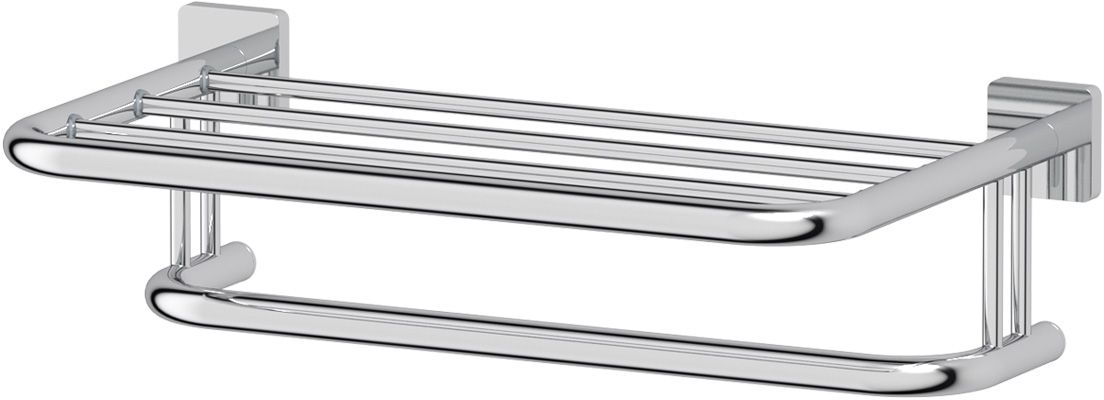 Полка для полотенец Ellux Avantgarde, 50 см, цвет: хром. AVA 029812Аксессуары торговой марки Ellux производятся на заводе ELLUX Gluck s.r.o., имеющем 20-летний опыт работы. Предприятие расположено в Злинском крае, исторически знаменитом своим промышленным потенциалом. Компоненты из всемирно известного богемского хрусталя выгодно дополняют серии аксессуаров. Широкий ассортимент, разнообразие форм, высочайшее качество исполнения и техническое?совершенство продукции отвечают самым высоким требованиям. Продукция завода Ellux представлена на российском рынке уже более 10 лет и за это время успела завоевать заслуженную популярность у покупателей, отдающих предпочтение дорогой и качественной продукции.100% made in Czech Republic Весь цикл производства изделий осуществляется на территории Чешской республики.Высококачественная латунь — дорогостоящий многокомпонентный медный сплав с основным легирующим элементом – цинком. Обладает высокой прочностью и коррозионной стойкостью. Считается лучшим материалом для изготовления аксессуаров, смесителей и другого сантехнического оборудования.Гарантия 15 лет. Длительный срок службы подтверждается 15-ти летней гарантией производителя при условии правильной эксплуатации.Проверенное временем качество продукции завода ELLUX Gluck s.r.o. позволяет производителю гарантировать длительный срок ее эксплуатации. Надежное крепление аксессуаров к стене обусловлено использованием качественных и прочных материалов крепежных элементов и хорошо продуманной конструкцией, разработанной с учетом возможных нагрузок.Премиум качество. Находясь в более доступном ценовом сегменте, аксессуары торговой марки ELLUX обладают всеми качествами продукции PREMIUMПроизведено в Чехии. Завод ELLUX Gluck s.r.o. — единственный производитель аксессуаров на территории Чешской Республики.В производстве аксессуаров используется высокосортная латунь, которая является идеальным материалом для эксплуатации в условиях повышенной влажности. Технически совершенные конструкции аксесс