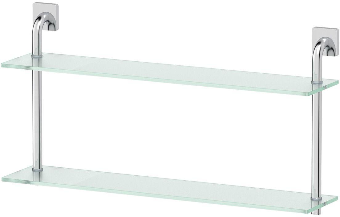 Полка для ванной Ellux Avantgarde, 2-х ярусная, 70 см, цвет: матовое стекло, хром. AVA 038RYN 016Аксессуары торговой марки Ellux производятся на заводе ELLUX Gluck s.r.o., имеющем 20-летний опыт работы. Предприятие расположено в Злинском крае, исторически знаменитом своим промышленным потенциалом. Компоненты из всемирно известного богемского хрусталя выгодно дополняют серии аксессуаров. Широкий ассортимент, разнообразие форм, высочайшее качество исполнения и техническое?совершенство продукции отвечают самым высоким требованиям. Продукция завода Ellux представлена на российском рынке уже более 10 лет и за это время успела завоевать заслуженную популярность у покупателей, отдающих предпочтение дорогой и качественной продукции.100% made in Czech Republic Весь цикл производства изделий осуществляется на территории Чешской республики.В производстве полок используется высококачественное матированное стекло марки Satinovo Mate Clear.Saint-Gobain Glass признанный мировой лидер в производстве высококачественного стекла, поэтому для производства стеклянных полок применяется матовое стекло «Satinovo Mate Clear» 8 мм именно этого производителя.Стеклянные полки производятся из высококачественного матового стекла 8 мм «Satinovo Mate Clear» завода Saint-Gobain Glass Deutschland GMBH. Остальные стеклянные компоненты изготовлены из богемского хрусталя фабрики Crystal Bohemia, a.s.Варианты комплектации. Покупателям предоставляется возможность выбирать хрустальные компоненты (стакан, мыльница, дозатор жидкого мыла) в матовом и прозрачном исполнении. Обратите внимание, что хрустальные колбы туалетного ерша и стеклянные полки предлагаются только в матовом исполнении.Высококачественная латунь — дорогостоящий многокомпонентный медный сплав с основным легирующим элементом – цинком. Обладает высокой прочностью и коррозионной стойкостью. Считается лучшим материалом для изготовления аксессуаров, смесителей и другого сантехнического оборудования.Гарантия 15 лет. Длительный срок службы подтверж