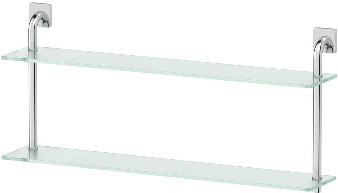 Полка для ванной Ellux Avantgarde, 2-х ярусная, 80 см, цвет: матовое стекло, хром. AVA 039RYN 009Аксессуары торговой марки Ellux производятся на заводе ELLUX Gluck s.r.o., имеющем 20-летний опыт работы. Предприятие расположено в Злинском крае, исторически знаменитом своим промышленным потенциалом. Компоненты из всемирно известного богемского хрусталя выгодно дополняют серии аксессуаров. Широкий ассортимент, разнообразие форм, высочайшее качество исполнения и техническое?совершенство продукции отвечают самым высоким требованиям. Продукция завода Ellux представлена на российском рынке уже более 10 лет и за это время успела завоевать заслуженную популярность у покупателей, отдающих предпочтение дорогой и качественной продукции.100% made in Czech Republic Весь цикл производства изделий осуществляется на территории Чешской республики.В производстве полок используется высококачественное матированное стекло марки Satinovo Mate Clear.Saint-Gobain Glass признанный мировой лидер в производстве высококачественного стекла, поэтому для производства стеклянных полок применяется матовое стекло «Satinovo Mate Clear» 8 мм именно этого производителя.Стеклянные полки производятся из высококачественного матового стекла 8 мм «Satinovo Mate Clear» завода Saint-Gobain Glass Deutschland GMBH. Остальные стеклянные компоненты изготовлены из богемского хрусталя фабрики Crystal Bohemia, a.s.Варианты комплектации. Покупателям предоставляется возможность выбирать хрустальные компоненты (стакан, мыльница, дозатор жидкого мыла) в матовом и прозрачном исполнении. Обратите внимание, что хрустальные колбы туалетного ерша и стеклянные полки предлагаются только в матовом исполнении.Высококачественная латунь — дорогостоящий многокомпонентный медный сплав с основным легирующим элементом – цинком. Обладает высокой прочностью и коррозионной стойкостью. Считается лучшим материалом для изготовления аксессуаров, смесителей и другого сантехнического оборудования.Гарантия 15 лет. Длительный срок службы подтверж