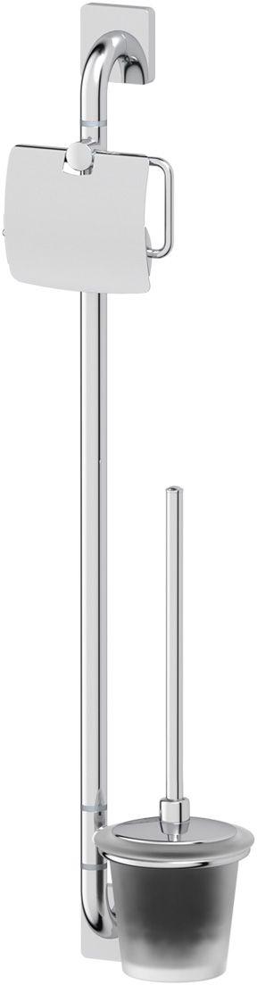 Штанга комбинированная для туалета Ellux Avantgarde, цвет: хром. AVA 074STI 030Аксессуары торговой марки Ellux производятся на заводе ELLUX Gluck s.r.o., имеющем 20-летний опыт работы. Предприятие расположено в Злинском крае, исторически знаменитом своим промышленным потенциалом. Компоненты из всемирно известного богемского хрусталя выгодно дополняют серии аксессуаров. Широкий ассортимент, разнообразие форм, высочайшее качество исполнения и техническое?совершенство продукции отвечают самым высоким требованиям. Продукция завода Ellux представлена на российском рынке уже более 10 лет и за это время успела завоевать заслуженную популярность у покупателей, отдающих предпочтение дорогой и качественной продукции.100% made in Czech Republic Весь цикл производства изделий осуществляется на территории Чешской республики.Высококачественная латунь, используемая в производстве аксессуаров, позволяет добиваться идеального результата в готовом изделии.Варианты комплектации. Покупателям предоставляется возможность выбирать хрустальные компоненты (стакан, мыльница, дозатор жидкого мыла) в матовом и прозрачном исполнении. Обратите внимание, что хрустальные колбы туалетного ерша и стеклянные полки предлагаются только в матовом исполнении.Высококачественная латунь — дорогостоящий многокомпонентный медный сплав с основным легирующим элементом – цинком. Обладает высокой прочностью и коррозионной стойкостью. Считается лучшим материалом для изготовления аксессуаров, смесителей и другого сантехнического оборудования.Гарантия 15 лет. Длительный срок службы подтверждается 15-ти летней гарантией производителя при условии правильной эксплуатации.Проверенное временем качество продукции завода ELLUX Gluck s.r.o. позволяет производителю гарантировать длительный срок ее эксплуатации. Комбинированные штанги и стойки позволяют использовать необходимые аксессуары, сокращая количество отверстий при монтаже. Аксессуары устанавливаются в поворотные крепления, чем достигается компактность конструкции и ф