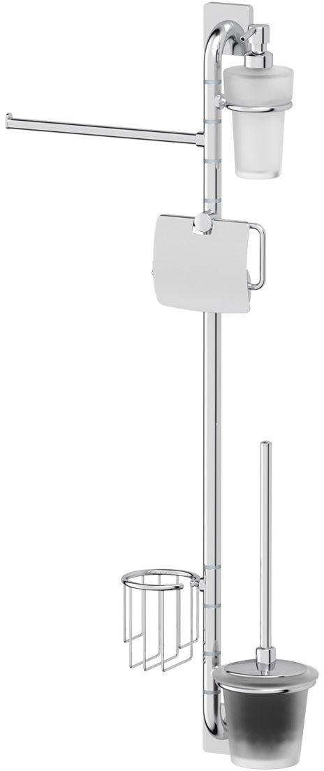 Штанга комбинированная для туалета с биде Ellux Avantgarde, цвет: хром. AVA 076107900Аксессуары торговой марки Ellux производятся на заводе ELLUX Gluck s.r.o., имеющем 20-летний опыт работы. Предприятие расположено в Злинском крае, исторически знаменитом своим промышленным потенциалом. Компоненты из всемирно известного богемского хрусталя выгодно дополняют серии аксессуаров. Широкий ассортимент, разнообразие форм, высочайшее качество исполнения и техническое?совершенство продукции отвечают самым высоким требованиям. Продукция завода Ellux представлена на российском рынке уже более 10 лет и за это время успела завоевать заслуженную популярность у покупателей, отдающих предпочтение дорогой и качественной продукции.100% made in Czech Republic Весь цикл производства изделий осуществляется на территории Чешской республики.Высококачественная латунь, используемая в производстве аксессуаров, позволяет добиваться идеального результата в готовом изделии.Варианты комплектации. Покупателям предоставляется возможность выбирать хрустальные компоненты (стакан, мыльница, дозатор жидкого мыла) в матовом и прозрачном исполнении. Обратите внимание, что хрустальные колбы туалетного ерша и стеклянные полки предлагаются только в матовом исполнении.Высококачественная латунь — дорогостоящий многокомпонентный медный сплав с основным легирующим элементом – цинком. Обладает высокой прочностью и коррозионной стойкостью. Считается лучшим материалом для изготовления аксессуаров, смесителей и другого сантехнического оборудования.Гарантия 15 лет. Длительный срок службы подтверждается 15-ти летней гарантией производителя при условии правильной эксплуатации.Проверенное временем качество продукции завода ELLUX Gluck s.r.o. позволяет производителю гарантировать длительный срок ее эксплуатации. Комбинированные штанги и стойки позволяют использовать необходимые аксессуары, сокращая количество отверстий при монтаже. Аксессуары устанавливаются в поворотные крепления, чем достигается компактность конструкц