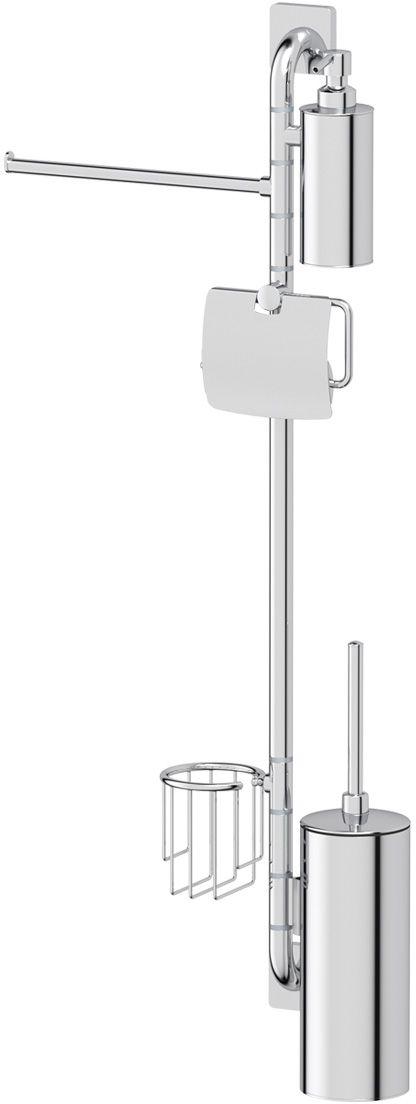 Штанга комбинированная для туалета с биде Ellux Avantgarde, цвет: хром. AVA 079ELE 067Аксессуары торговой марки Ellux производятся на заводе ELLUX Gluck s.r.o., имеющем 20-летний опыт работы. Предприятие расположено в Злинском крае, исторически знаменитом своим промышленным потенциалом. Компоненты из всемирно известного богемского хрусталя выгодно дополняют серии аксессуаров. Широкий ассортимент, разнообразие форм, высочайшее качество исполнения и техническое?совершенство продукции отвечают самым высоким требованиям. Продукция завода Ellux представлена на российском рынке уже более 10 лет и за это время успела завоевать заслуженную популярность у покупателей, отдающих предпочтение дорогой и качественной продукции.100% made in Czech Republic Весь цикл производства изделий осуществляется на территории Чешской республики.Высококачественная латунь — дорогостоящий многокомпонентный медный сплав с основным легирующим элементом – цинком. Обладает высокой прочностью и коррозионной стойкостью. Считается лучшим материалом для изготовления аксессуаров, смесителей и другого сантехнического оборудования.Гарантия 15 лет. Длительный срок службы подтверждается 15-ти летней гарантией производителя при условии правильной эксплуатации.Проверенное временем качество продукции завода ELLUX Gluck s.r.o. позволяет производителю гарантировать длительный срок ее эксплуатации. Комбинированные штанги и стойки позволяют использовать необходимые аксессуары, сокращая количество отверстий при монтаже. Аксессуары устанавливаются в поворотные крепления, чем достигается компактность конструкции и функциональность её эксплуатации.Надежное крепление аксессуаров к стене обусловлено использованием качественных и прочных материалов крепежных элементов и хорошо продуманной конструкцией, разработанной с учетом возможных нагрузок.Премиум качество. Находясь в более доступном ценовом сегменте, аксессуары торговой марки ELLUX обладают всеми качествами продукции PREMIUMПроизведено в Чехии. Завод ELLUX Gluck s.r.