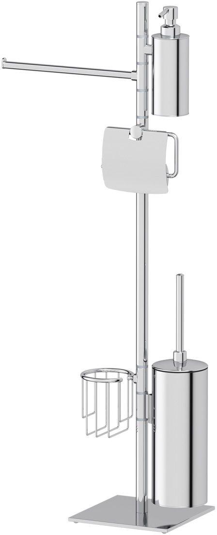Стойка для туалета с биде Ellux Domino, c 5-ю аксессуарами, 86 см, цвет: хром. DOM 011М 5018Аксессуары торговой марки Ellux производятся на заводе ELLUX Gluck s.r.o., имеющем 20-летний опыт работы. Предприятие расположено в Злинском крае, исторически знаменитом своим промышленным потенциалом. Компоненты из всемирно известного богемского хрусталя выгодно дополняют серии аксессуаров. Широкий ассортимент, разнообразие форм, высочайшее качество исполнения и техническое?совершенство продукции отвечают самым высоким требованиям. Продукция завода Ellux представлена на российском рынке уже более 10 лет и за это время успела завоевать заслуженную популярность у покупателей, отдающих предпочтение дорогой и качественной продукции.100% made in Czech Republic Весь цикл производства изделий осуществляется на территории Чешской республики.Высококачественная латунь — дорогостоящий многокомпонентный медный сплав с основным легирующим элементом – цинком. Обладает высокой прочностью и коррозионной стойкостью. Считается лучшим материалом для изготовления аксессуаров, смесителей и другого сантехнического оборудования.Гарантия 15 лет. Длительный срок службы подтверждается 15-ти летней гарантией производителя при условии правильной эксплуатации.Проверенное временем качество продукции завода ELLUX Gluck s.r.o. позволяет производителю гарантировать длительный срок ее эксплуатации. Комбинированные штанги и стойки позволяют использовать необходимые аксессуары, сокращая количество отверстий при монтаже. Аксессуары устанавливаются в поворотные крепления, чем достигается компактность конструкции и функциональность её эксплуатации.Премиум качество. Находясь в более доступном ценовом сегменте, аксессуары торговой марки ELLUX обладают всеми качествами продукции PREMIUMПроизведено в Чехии. Завод ELLUX Gluck s.r.o. — единственный производитель аксессуаров на территории Чешской Республики.В производстве аксессуаров используется высокосортная латунь, которая является идеальным материалом для эксплуатац
