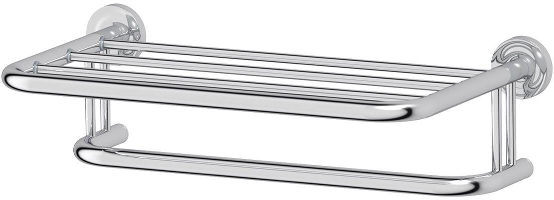 Полка для полотенец Ellux Elegance, 50 см, цвет: хром. ELE 029STI 507Аксессуары торговой марки Ellux производятся на заводе ELLUX Gluck s.r.o., имеющем 20-летний опыт работы. Предприятие расположено в Злинском крае, исторически знаменитом своим промышленным потенциалом. Компоненты из всемирно известного богемского хрусталя выгодно дополняют серии аксессуаров. Широкий ассортимент, разнообразие форм, высочайшее качество исполнения и техническое?совершенство продукции отвечают самым высоким требованиям. Продукция завода Ellux представлена на российском рынке уже более 10 лет и за это время успела завоевать заслуженную популярность у покупателей, отдающих предпочтение дорогой и качественной продукции.100% made in Czech Republic Весь цикл производства изделий осуществляется на территории Чешской республики.Высококачественная латунь — дорогостоящий многокомпонентный медный сплав с основным легирующим элементом – цинком. Обладает высокой прочностью и коррозионной стойкостью. Считается лучшим материалом для изготовления аксессуаров, смесителей и другого сантехнического оборудования.Гарантия 15 лет. Длительный срок службы подтверждается 15-ти летней гарантией производителя при условии правильной эксплуатации.Проверенное временем качество продукции завода ELLUX Gluck s.r.o. позволяет производителю гарантировать длительный срок ее эксплуатации. Надежное крепление аксессуаров к стене обусловлено использованием качественных и прочных материалов крепежных элементов и хорошо продуманной конструкцией, разработанной с учетом возможных нагрузок.Премиум качество. Находясь в более доступном ценовом сегменте, аксессуары торговой марки ELLUX обладают всеми качествами продукции PREMIUMПроизведено в Чехии. Завод ELLUX Gluck s.r.o. — единственный производитель аксессуаров на территории Чешской Республики.В производстве аксессуаров используется высокосортная латунь, которая является идеальным материалом для эксплуатации в условиях повышенной влажности. Технически совершенные конструкции аксе