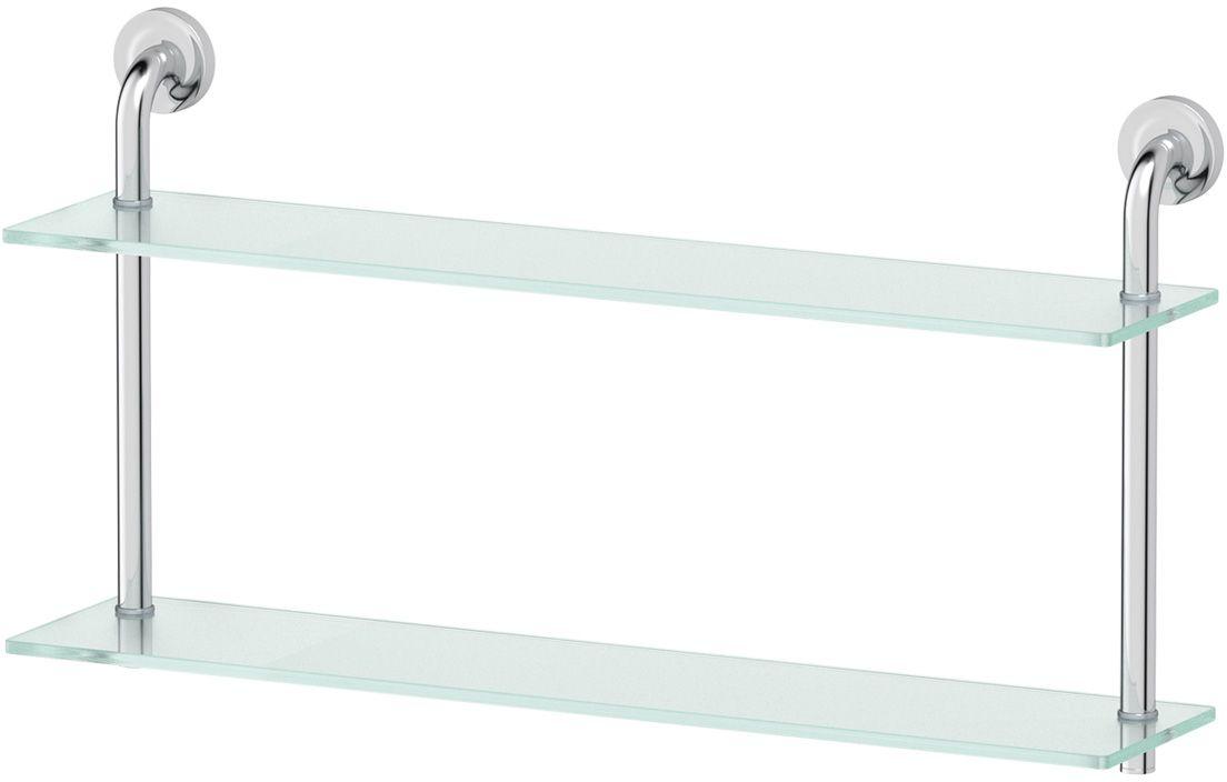 Полка для ванной Ellux Elegance, 2-х ярусная, 70 см, цвет: матовое стекло, хром. ELE 038STI 616Аксессуары торговой марки Ellux производятся на заводе ELLUX Gluck s.r.o., имеющем 20-летний опыт работы. Предприятие расположено в Злинском крае, исторически знаменитом своим промышленным потенциалом. Компоненты из всемирно известного богемского хрусталя выгодно дополняют серии аксессуаров. Широкий ассортимент, разнообразие форм, высочайшее качество исполнения и техническое?совершенство продукции отвечают самым высоким требованиям. Продукция завода Ellux представлена на российском рынке уже более 10 лет и за это время успела завоевать заслуженную популярность у покупателей, отдающих предпочтение дорогой и качественной продукции.100% made in Czech Republic Весь цикл производства изделий осуществляется на территории Чешской республики.В производстве полок используется высококачественное матированное стекло марки Satinovo Mate Clear.Saint-Gobain Glass признанный мировой лидер в производстве высококачественного стекла, поэтому для производства стеклянных полок применяется матовое стекло «Satinovo Mate Clear» 8 мм именно этого производителя.Стеклянные полки производятся из высококачественного матового стекла 8 мм «Satinovo Mate Clear» завода Saint-Gobain Glass Deutschland GMBH. Остальные стеклянные компоненты изготовлены из богемского хрусталя фабрики Crystal Bohemia, a.s.Варианты комплектации. Покупателям предоставляется возможность выбирать хрустальные компоненты (стакан, мыльница, дозатор жидкого мыла) в матовом и прозрачном исполнении. Обратите внимание, что хрустальные колбы туалетного ерша и стеклянные полки предлагаются только в матовом исполнении.Высококачественная латунь — дорогостоящий многокомпонентный медный сплав с основным легирующим элементом – цинком. Обладает высокой прочностью и коррозионной стойкостью. Считается лучшим материалом для изготовления аксессуаров, смесителей и другого сантехнического оборудования.Гарантия 15 лет. Длительный срок службы подтвержда
