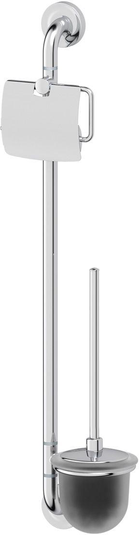 Штанга комбинированная для туалета Ellux Elegance, цвет: хром. ELE 074шв_8327Аксессуары торговой марки Ellux производятся на заводе ELLUX Gluck s.r.o., имеющем 20-летний опыт работы. Предприятие расположено в Злинском крае, исторически знаменитом своим промышленным потенциалом. Компоненты из всемирно известного богемского хрусталя выгодно дополняют серии аксессуаров. Широкий ассортимент, разнообразие форм, высочайшее качество исполнения и техническое?совершенство продукции отвечают самым высоким требованиям. Продукция завода Ellux представлена на российском рынке уже более 10 лет и за это время успела завоевать заслуженную популярность у покупателей, отдающих предпочтение дорогой и качественной продукции.100% made in Czech Republic Весь цикл производства изделий осуществляется на территории Чешской республики.Высококачественная латунь, используемая в производстве аксессуаров, позволяет добиваться идеального результата в готовом изделии.Варианты комплектации. Покупателям предоставляется возможность выбирать хрустальные компоненты (стакан, мыльница, дозатор жидкого мыла) в матовом и прозрачном исполнении. Обратите внимание, что хрустальные колбы туалетного ерша и стеклянные полки предлагаются только в матовом исполнении.Высококачественная латунь — дорогостоящий многокомпонентный медный сплав с основным легирующим элементом – цинком. Обладает высокой прочностью и коррозионной стойкостью. Считается лучшим материалом для изготовления аксессуаров, смесителей и другого сантехнического оборудования.Гарантия 15 лет. Длительный срок службы подтверждается 15-ти летней гарантией производителя при условии правильной эксплуатации.Проверенное временем качество продукции завода ELLUX Gluck s.r.o. позволяет производителю гарантировать длительный срок ее эксплуатации. Комбинированные штанги и стойки позволяют использовать необходимые аксессуары, сокращая количество отверстий при монтаже. Аксессуары устанавливаются в поворотные крепления, чем достигается компактность конструкции и фун