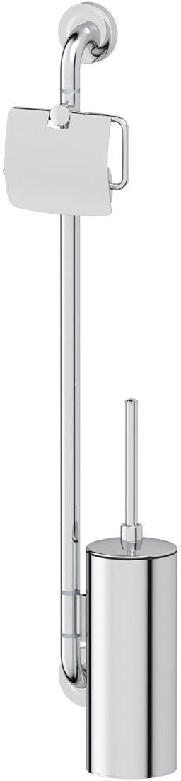 Штанга комбинированная для туалета Ellux Elegance, цвет: хром. ELE 077шв_9004Аксессуары торговой марки Ellux производятся на заводе ELLUX Gluck s.r.o., имеющем 20-летний опыт работы. Предприятие расположено в Злинском крае, исторически знаменитом своим промышленным потенциалом. Компоненты из всемирно известного богемского хрусталя выгодно дополняют серии аксессуаров. Широкий ассортимент, разнообразие форм, высочайшее качество исполнения и техническое?совершенство продукции отвечают самым высоким требованиям. Продукция завода Ellux представлена на российском рынке уже более 10 лет и за это время успела завоевать заслуженную популярность у покупателей, отдающих предпочтение дорогой и качественной продукции.100% made in Czech Republic Весь цикл производства изделий осуществляется на территории Чешской республики.Высококачественная латунь — дорогостоящий многокомпонентный медный сплав с основным легирующим элементом – цинком. Обладает высокой прочностью и коррозионной стойкостью. Считается лучшим материалом для изготовления аксессуаров, смесителей и другого сантехнического оборудования.Гарантия 15 лет. Длительный срок службы подтверждается 15-ти летней гарантией производителя при условии правильной эксплуатации.Проверенное временем качество продукции завода ELLUX Gluck s.r.o. позволяет производителю гарантировать длительный срок ее эксплуатации. Комбинированные штанги и стойки позволяют использовать необходимые аксессуары, сокращая количество отверстий при монтаже. Аксессуары устанавливаются в поворотные крепления, чем достигается компактность конструкции и функциональность её эксплуатации.Надежное крепление аксессуаров к стене обусловлено использованием качественных и прочных материалов крепежных элементов и хорошо продуманной конструкцией, разработанной с учетом возможных нагрузок.Премиум качество. Находясь в более доступном ценовом сегменте, аксессуары торговой марки ELLUX обладают всеми качествами продукции PREMIUMПроизведено в Чехии. Завод ELLUX Gluck s.r.o. — един