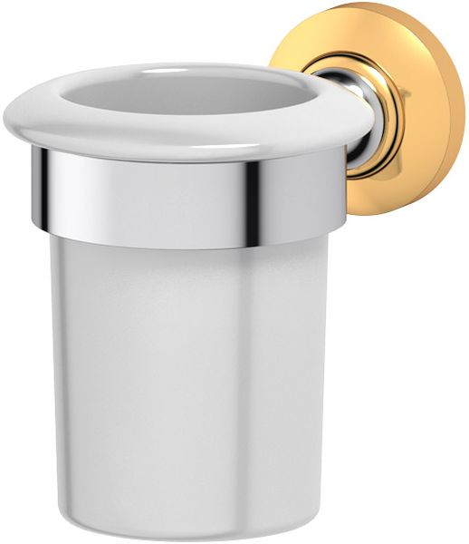 Держатель со стаканом для ванной комнаты 3SC Stilmar, цвет: хром, золото. STI 103STI 102Дизайн коллекций компании 3SC оригинален и узнаваем. Цель дизайнеров — находить равновесие между эстетикой и функциональностью. Это обдуманная четкая философия, которая проходит через все процессы производства мастерской региона Тоскана.Многолетний опыт, воплощение социальных и культурных традиций, а также постоянный поиск новых решений?– все это сконцентрировано в коллекциях 3SC. Особенное внимание уделяется декоративной отделке изделий, которая выполнена умелыми руками настоящих итальянских мастеров. Разнообразие стилей позволяет удовлетворить различные вкусы клиента от «классики» до «хай-тек», давая возможность гармонично сочетать аксессуары с зеркалами и освещением.
