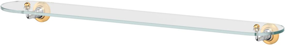 Полка для ванной 3SC Stilmar, 80 см, цвет: хром, золото. STI 116RYN 016Дизайн коллекций компании 3SC оригинален и узнаваем. Цель дизайнеров — находить равновесие между эстетикой и функциональностью. Это обдуманная четкая философия, которая проходит через все процессы производства мастерской региона Тоскана.Многолетний опыт, воплощение социальных и культурных традиций, а также постоянный поиск новых решений?– все это сконцентрировано в коллекциях 3SC. Особенное внимание уделяется декоративной отделке изделий, которая выполнена умелыми руками настоящих итальянских мастеров. Разнообразие стилей позволяет удовлетворить различные вкусы клиента от «классики» до «хай-тек», давая возможность гармонично сочетать аксессуары с зеркалами и освещением.