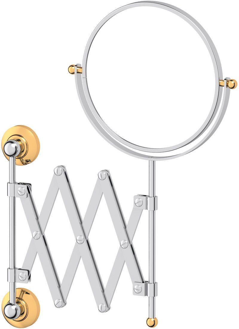 Зеркало косметическое для ванны 3SC  Stilmar , цвет: хром, золото. STI 120 - Мебель