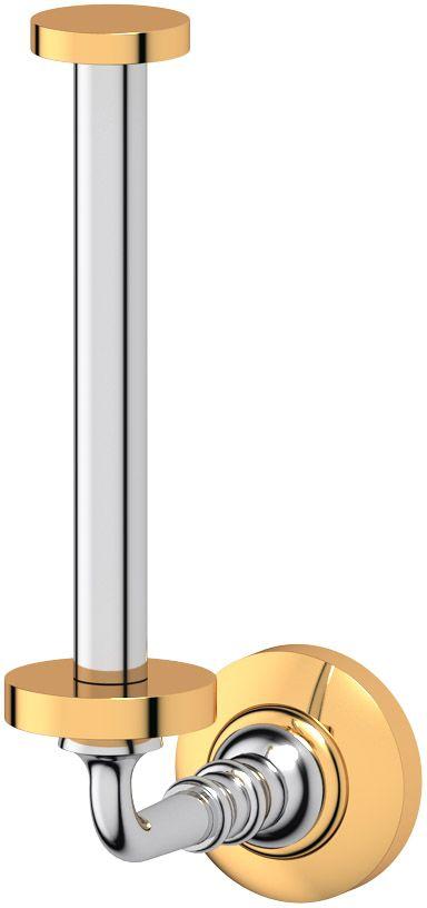 Держатель запасного рулона туалетной бумаги 3SC Stilmar, цвет: хром, золото. STI 122ESP 056Дизайн коллекций компании 3SC оригинален и узнаваем. Цель дизайнеров — находить равновесие между эстетикой и функциональностью. Это обдуманная четкая философия, которая проходит через все процессы производства мастерской региона Тоскана.Многолетний опыт, воплощение социальных и культурных традиций, а также постоянный поиск новых решений?– все это сконцентрировано в коллекциях 3SC. Особенное внимание уделяется декоративной отделке изделий, которая выполнена умелыми руками настоящих итальянских мастеров. Разнообразие стилей позволяет удовлетворить различные вкусы клиента от «классики» до «хай-тек», давая возможность гармонично сочетать аксессуары с зеркалами и освещением.