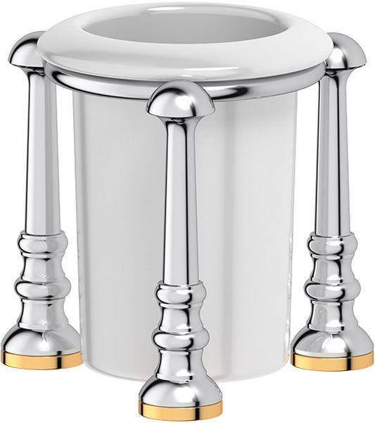 Стакан для ванной комнаты 3SC Stilmar Un, настольный, цвет: хром, золото. STI 127280882_прозрачныйДизайн коллекций компании 3SC оригинален и узнаваем. Цель дизайнеров — находить равновесие между эстетикой и функциональностью. Это обдуманная четкая философия, которая проходит через все процессы производства мастерской региона Тоскана.Многолетний опыт, воплощение социальных и культурных традиций, а также постоянный поиск новых решений?– все это сконцентрировано в коллекциях 3SC. Особенное внимание уделяется декоративной отделке изделий, которая выполнена умелыми руками настоящих итальянских мастеров. Разнообразие стилей позволяет удовлетворить различные вкусы клиента от «классики» до «хай-тек», давая возможность гармонично сочетать аксессуары с зеркалами и освещением.