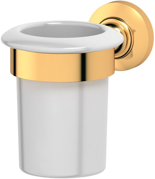 Держатель со стаканом для ванной комнаты 3SC Stilmar, цвет: золото. STI 203860-11Дизайн коллекций компании 3SC оригинален и узнаваем. Цель дизайнеров — находить равновесие между эстетикой и функциональностью. Это обдуманная четкая философия, которая проходит через все процессы производства мастерской региона Тоскана.Многолетний опыт, воплощение социальных и культурных традиций, а также постоянный поиск новых решений?– все это сконцентрировано в коллекциях 3SC. Особенное внимание уделяется декоративной отделке изделий, которая выполнена умелыми руками настоящих итальянских мастеров. Разнообразие стилей позволяет удовлетворить различные вкусы клиента от «классики» до «хай-тек», давая возможность гармонично сочетать аксессуары с зеркалами и освещением.