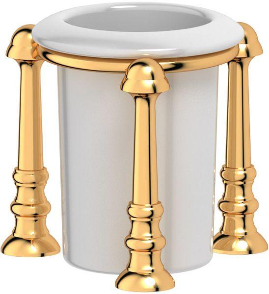 Стакан для ванной комнаты 3SC Stilmar Un, настольный, цвет: золото. STI 227TIF 007Дизайн коллекций компании 3SC оригинален и узнаваем. Цель дизайнеров — находить равновесие между эстетикой и функциональностью. Это обдуманная четкая философия, которая проходит через все процессы производства мастерской региона Тоскана.Многолетний опыт, воплощение социальных и культурных традиций, а также постоянный поиск новых решений?– все это сконцентрировано в коллекциях 3SC. Особенное внимание уделяется декоративной отделке изделий, которая выполнена умелыми руками настоящих итальянских мастеров. Разнообразие стилей позволяет удовлетворить различные вкусы клиента от «классики» до «хай-тек», давая возможность гармонично сочетать аксессуары с зеркалами и освещением.