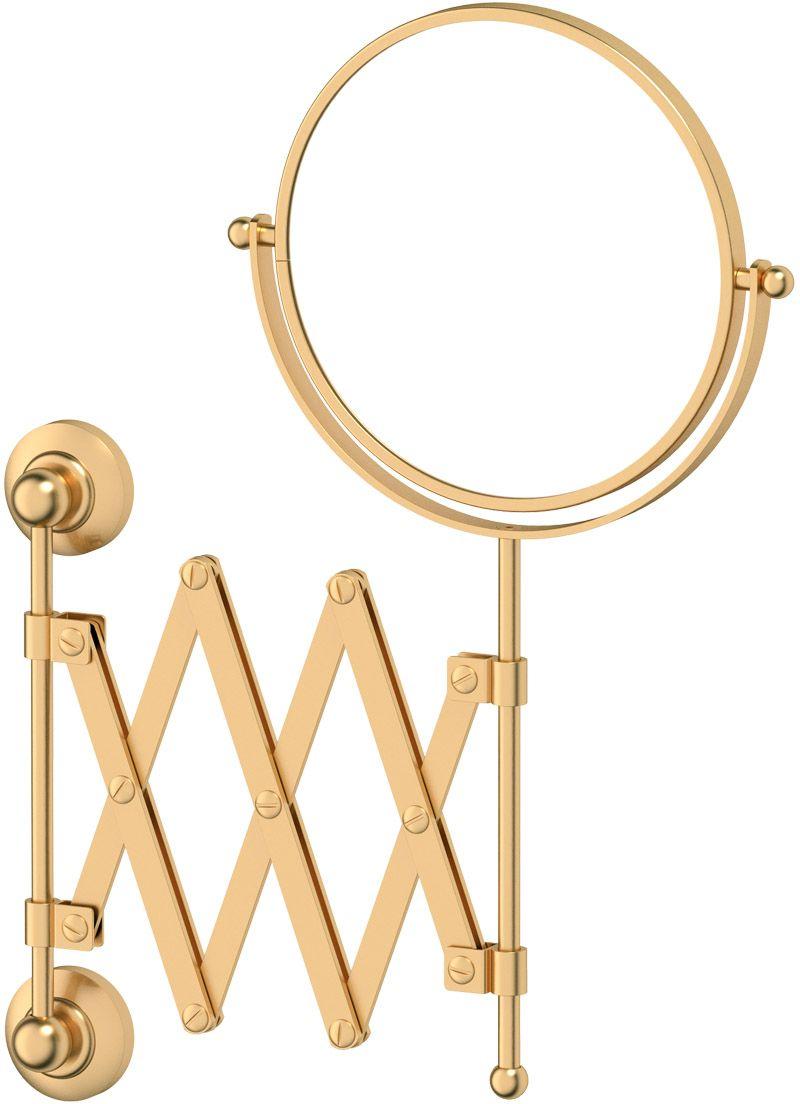Зеркало косметическое для ванны 3SC Stilmar, цвет: матовое золото. STI 32020412Дизайн коллекций компании 3SC оригинален и узнаваем. Цель дизайнеров — находить равновесие между эстетикой и функциональностью. Это обдуманная четкая философия, которая проходит через все процессы производства мастерской региона Тоскана.Многолетний опыт, воплощение социальных и культурных традиций, а также постоянный поиск новых решений?– все это сконцентрировано в коллекциях 3SC. Особенное внимание уделяется декоративной отделке изделий, которая выполнена умелыми руками настоящих итальянских мастеров. Разнообразие стилей позволяет удовлетворить различные вкусы клиента от «классики» до «хай-тек», давая возможность гармонично сочетать аксессуары с зеркалами и освещением.