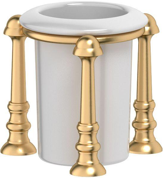 Стакан для ванной комнаты 3SC Stilmar Un, настольный, цвет: матовое золото. STI 327LUX 080Дизайн коллекций компании 3SC оригинален и узнаваем. Цель дизайнеров — находить равновесие между эстетикой и функциональностью. Это обдуманная четкая философия, которая проходит через все процессы производства мастерской региона Тоскана.Многолетний опыт, воплощение социальных и культурных традиций, а также постоянный поиск новых решений?– все это сконцентрировано в коллекциях 3SC. Особенное внимание уделяется декоративной отделке изделий, которая выполнена умелыми руками настоящих итальянских мастеров. Разнообразие стилей позволяет удовлетворить различные вкусы клиента от «классики» до «хай-тек», давая возможность гармонично сочетать аксессуары с зеркалами и освещением.