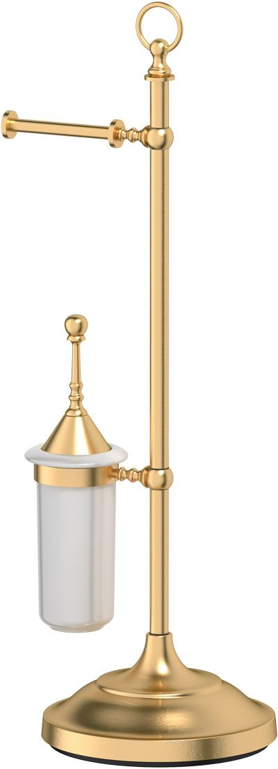 Стойка комбинированная для туалета 3SC  Stilmar Un , цвет: матовое золото. STI 333 - Аксессуары для туалетной комнаты