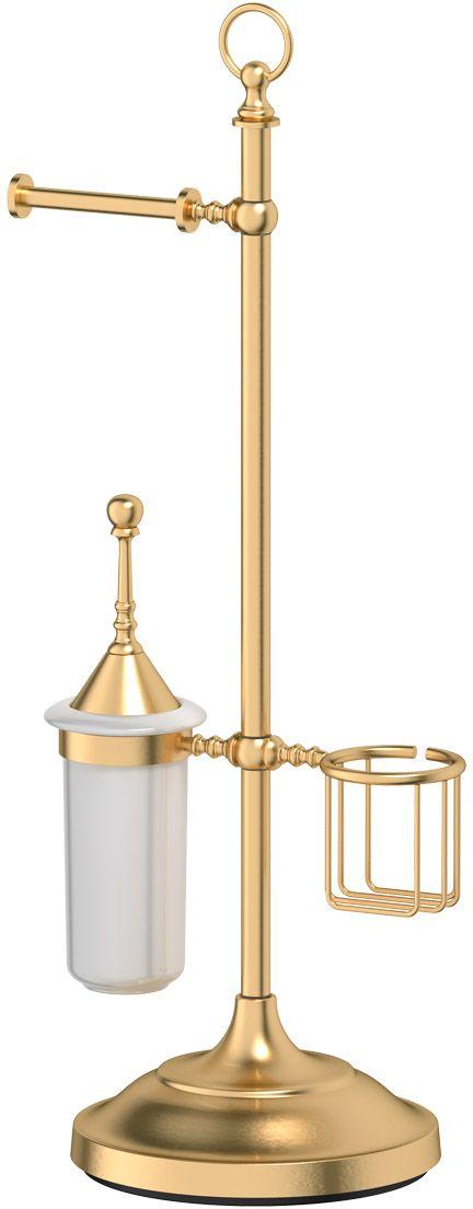Стойка комбинированная для туалета 3SC  Stilmar Un , цвет: матовое золото. STI 334 - Аксессуары для туалетной комнаты