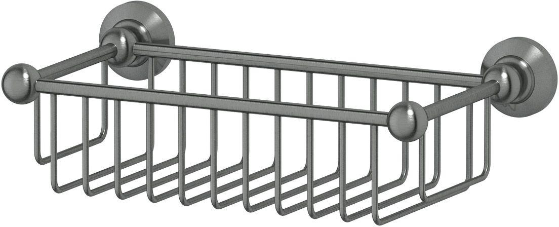 Полочка-решетка для ванной 3SC  Stilmar , 31 см, цвет: античное серебро. STI 407 - Полки и стеллажи