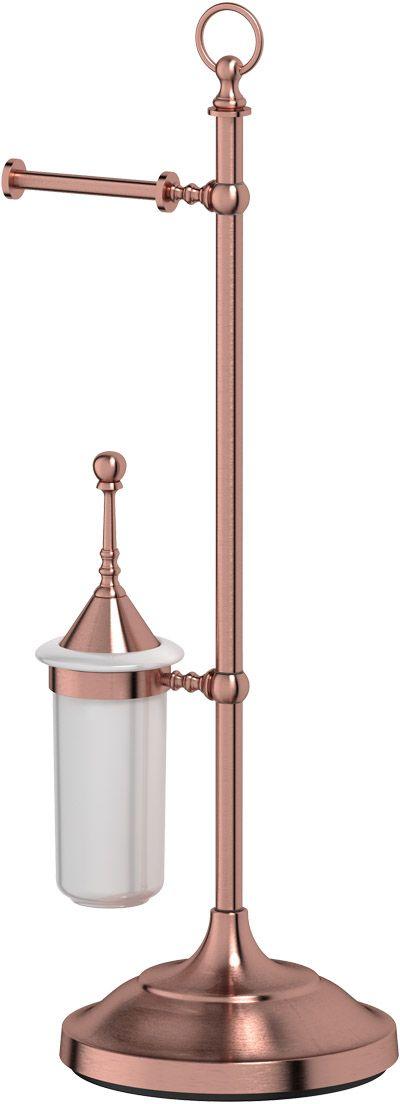 Стойка комбинированная для туалета 3SC Stilmar Un, цвет: античная медь. STI 633STI 633В течение 20 лет компания Lineag разрабатывает и производит эксклюзивные аксессуары для ванной комнаты, используя современные технологии и высококачественные материалы. Каждый продукт Lineag произведен исключительно в Италии. Изысканный дизайн аксессуаров Lineag создает уникальную атмосферу уюта и роскоши в вашей ванной.Высококачественная латунь — дорогостоящий многокомпонентный медный сплав с основным легирующим элементом – цинком. Обладает высокой прочностью и коррозионной стойкостью. Считается лучшим материалом для изготовления аксессуаров, смесителей и другого сантехнического оборудования. Сделано из латуни. Латунь, используемая в производстве аксессуаров, обладает высокой прочностью и коррозионной стойкостью, и считается лучшим материалом для изготовления аксессуаров. Гарантия 12 лет.Высокое качество продукции позволяет производителю предоставлять 12-летнюю гарантию на изделия при условии их правильной эксплуатации. Произведено в Италии.Весь технологический цикл производства осуществляется на территории Италии. Оптическое стекло — стекло специального состава, отличающееся особенно высокой прозрачностью, кристальной чистотой, бесцветностью и однородностью. Хром - очень прочный, износостойкий металл, обладающий корозийной стойкостью Предмет декорирован кристаллами, что предает изысканность и индивидуальность Дизайн и конструкция предмета продумана так, что все крепежные элементы не видны при его использовании.