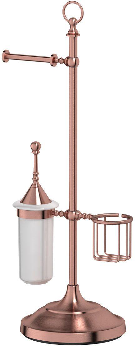 Стойка комбинированная для туалета 3SC Stilmar Un, цвет: античная медь. STI 634ESP 056В течение 20 лет компания Lineag разрабатывает и производит эксклюзивные аксессуары для ванной комнаты, используя современные технологии и высококачественные материалы. Каждый продукт Lineag произведен исключительно в Италии. Изысканный дизайн аксессуаров Lineag создает уникальную атмосферу уюта и роскоши в вашей ванной.Высококачественная латунь — дорогостоящий многокомпонентный медный сплав с основным легирующим элементом – цинком. Обладает высокой прочностью и коррозионной стойкостью. Считается лучшим материалом для изготовления аксессуаров, смесителей и другого сантехнического оборудования. Сделано из латуни. Латунь, используемая в производстве аксессуаров, обладает высокой прочностью и коррозионной стойкостью, и считается лучшим материалом для изготовления аксессуаров. Гарантия 12 лет.Высокое качество продукции позволяет производителю предоставлять 12-летнюю гарантию на изделия при условии их правильной эксплуатации. Произведено в Италии.Весь технологический цикл производства осуществляется на территории Италии. Хром - очень прочный, износостойкий металл, обладающий корозийной стойкостью Предмет декорирован кристаллами, что предает изысканность и индивидуальность Дизайн и конструкция предмета продумана так, что все крепежные элементы не видны при его использовании.