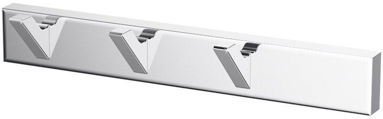 Планка с тремя крючками Lineag Tiffany, цвет: хром. TIF 002ESP 047В течение 20 лет компания Lineag разрабатывает и производит эксклюзивные аксессуары для ванной комнаты, используя современные технологии и высококачественные материалы. Каждый продукт Lineag произведен исключительно в Италии. Изысканный дизайн аксессуаров Lineag создает уникальную атмосферу уюта и роскоши в вашей ванной.