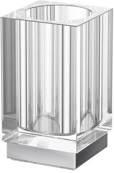 Стакан для ванной комнаты Lineag Tiffany Un, настольный, цвет: хром. TIF 016LUX 045В течение 20 лет компания Lineag разрабатывает и производит эксклюзивные аксессуары для ванной комнаты, используя современные технологии и высококачественные материалы. Каждый продукт Lineag произведен исключительно в Италии. Изысканный дизайн аксессуаров Lineag создает уникальную атмосферу уюта и роскоши в вашей ванной.