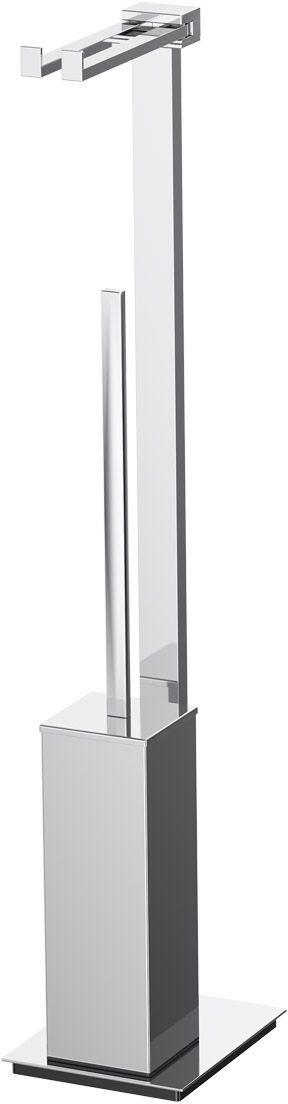 Стойка комбинированная для туалета Lineag Tiffany Un, цвет: хром. TIF 021А0072001В течение 20 лет компания Lineag разрабатывает и производит эксклюзивные аксессуары для ванной комнаты, используя современные технологии и высококачественные материалы. Каждый продукт Lineag произведен исключительно в Италии. Изысканный дизайн аксессуаров Lineag создает уникальную атмосферу уюта и роскоши в вашей ванной.