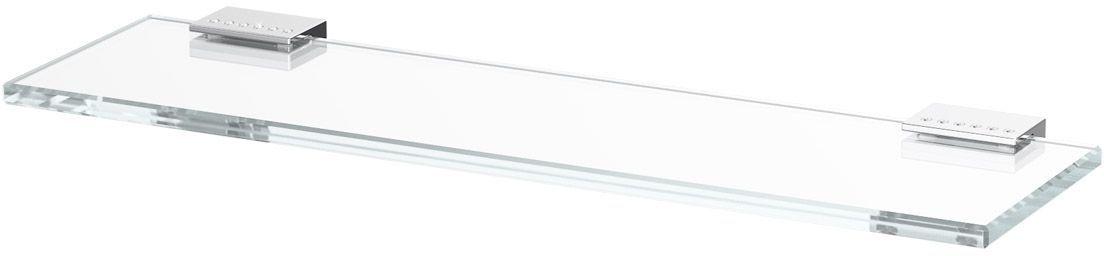 Полка для ванной Lineag Tiffany Lux, 40 см, цвет: хром. TIF 910RYN 004В течение 20 лет компания Lineag разрабатывает и производит эксклюзивные аксессуары для ванной комнаты, используя современные технологии и высококачественные материалы. Каждый продукт Lineag произведен исключительно в Италии. Изысканный дизайн аксессуаров Lineag создает уникальную атмосферу уюта и роскоши в вашей ванной.