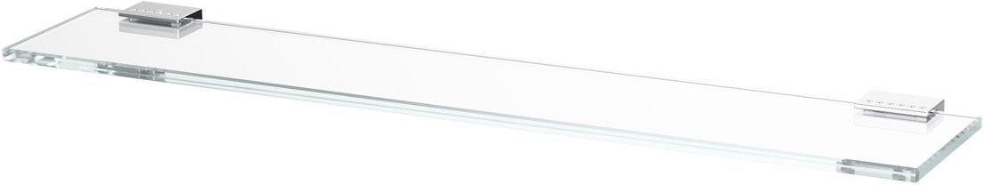 Полка для ванной Lineag Tiffany Lux, 60 см, цвет: хром. TIF 911RYN 009В течение 20 лет компания Lineag разрабатывает и производит эксклюзивные аксессуары для ванной комнаты, используя современные технологии и высококачественные материалы. Каждый продукт Lineag произведен исключительно в Италии. Изысканный дизайн аксессуаров Lineag создает уникальную атмосферу уюта и роскоши в вашей ванной.