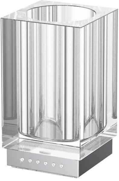 Стакан для ванной комнаты Lineag Tiffany Lux Un, настольный, цвет: хром. TIF 916CALSB20i49В течение 20 лет компания Lineag разрабатывает и производит эксклюзивные аксессуары для ванной комнаты, используя современные технологии и высококачественные материалы. Каждый продукт Lineag произведен исключительно в Италии. Изысканный дизайн аксессуаров Lineag создает уникальную атмосферу уюта и роскоши в вашей ванной.