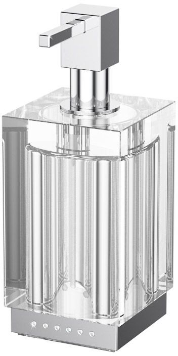 Емкость для жидкого мыла Lineag Tiffany Lux Un, настольная, цвет: хром. TIF 918126724В течение 20 лет компания Lineag разрабатывает и производит эксклюзивные аксессуары для ванной комнаты, используя современные технологии и высококачественные материалы. Каждый продукт Lineag произведен исключительно в Италии. Изысканный дизайн аксессуаров Lineag создает уникальную атмосферу уюта и роскоши в вашей ванной.