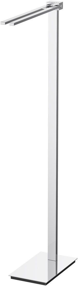 Стойка с держателем полотенец Lineag Tiffany Lux Un, цвет: хром. TIF 920RYN 033В течение 20 лет компания Lineag разрабатывает и производит эксклюзивные аксессуары для ванной комнаты, используя современные технологии и высококачественные материалы. Каждый продукт Lineag произведен исключительно в Италии. Изысканный дизайн аксессуаров Lineag создает уникальную атмосферу уюта и роскоши в вашей ванной.