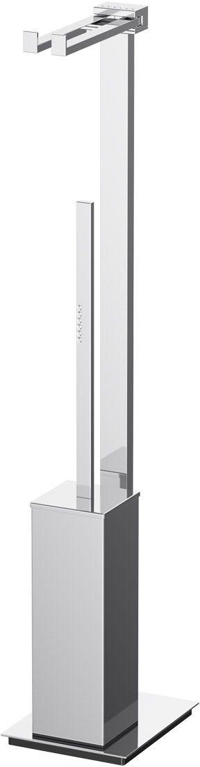 Стойка комбинированная для туалета Lineag Tiffany Lux Un, цвет: хром. TIF 921HAR 051В течение 20 лет компания Lineag разрабатывает и производит эксклюзивные аксессуары для ванной комнаты, используя современные технологии и высококачественные материалы. Каждый продукт Lineag произведен исключительно в Италии. Изысканный дизайн аксессуаров Lineag создает уникальную атмосферу уюта и роскоши в вашей ванной.