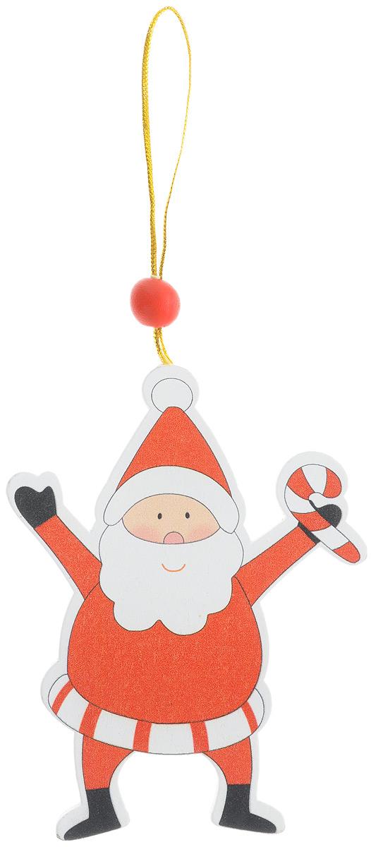 Новогоднее подвесное украшение Sima-land Веселый Дед мороз. 15426297775318Новогоднее украшение Sima-land Веселый Дед мороз, изготовленное из дерева, отлично подойдет для декорации вашего дома и новогодней ели. Украшение оснащено специальной текстильной петелькой для подвешивания. Елочная игрушка - символ Нового года. Она несет в себе волшебство и красоту праздника. Такое украшение Веселый Дед мороз создаст в вашем доме атмосферу веселья и радости.