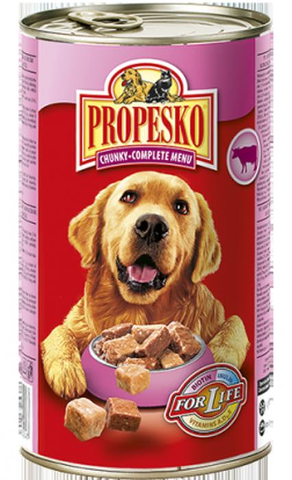 Консервы для собак Propesko, с говядиной, курицей и дичью, 1,24 кг12171996Консервы для собак Propesko имеют восхитительный вкус благодаря качеству ингредиентов и прекрасному составу. Они производятся без консервантов, обогащены витаминами и минералами, хорошо усваиваются организмом. Консервы могут использоваться в качестве добавления к сухому корму или как поощрение. Разработаны с учетом потребностей собак. Состав: мясо и животные производные (70%, включая 5% курицы, в том числе 5% говядины), минералы, производные растительного происхождения (0,2% инулина). Анализ состава: влажность 77,0%, белок 10,0%, жир 6,0%, сырая зола 3,5%, сырой клетчатки 0,5%.Добавки на 1 кг: витамин А 1100 МЕ, витамин D3 150 МЕ, витамин Е 10 мг, медь (сульфат меди, пентагидрат) 1,4 мг, цинк (как цинк сульфат, моногидрат) 10 мг, марганец (как оксид марганца) 2 мг. Товар сертифицирован.