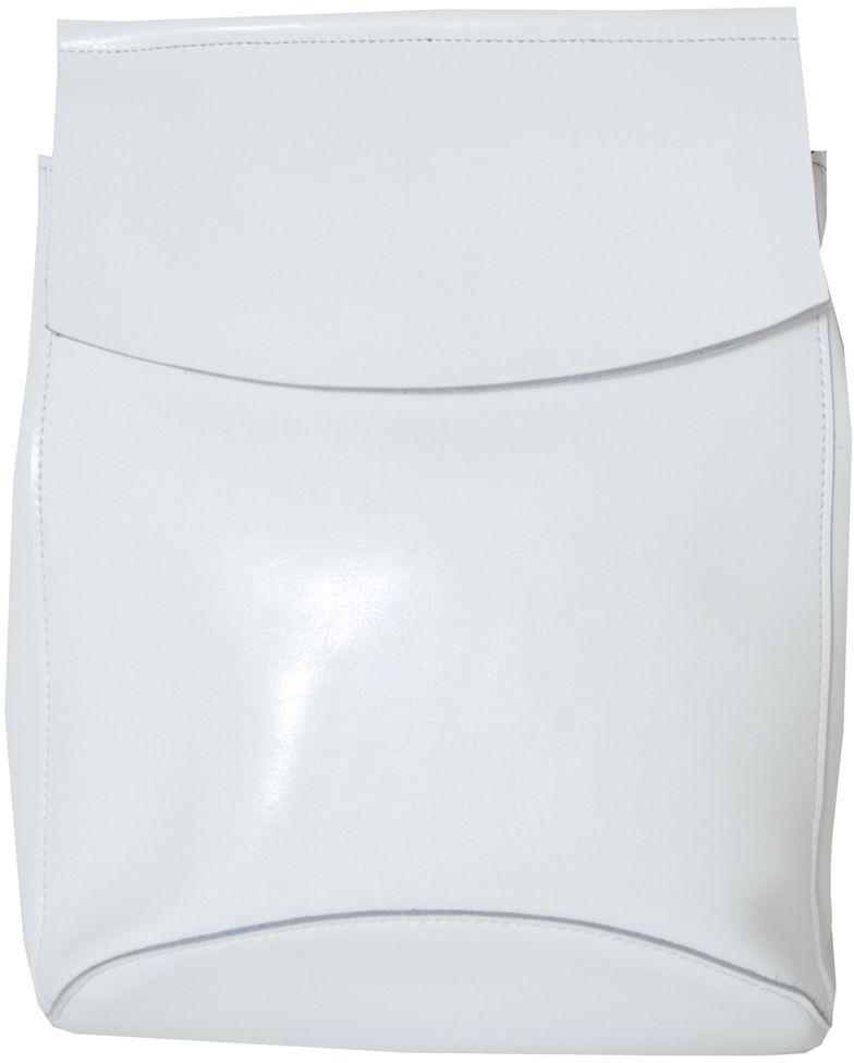 Рюкзак женский Flioraj, цвет: белый. 16083-47670-00504Рюкзак Flioraj выполнен из натуральной лаковой кожи. Изделие оснащено ручкой для переноски иудобными лямками, длину которых можно изменять с помощью пряжек. На тыльной стороне расположено вшитый карман на молнии. Изделие закрывается клапаном на кнопку. Внутри расположено главное отделение на молнии, разделённое карманом-средником на молнии. Также внутри расположен небольшой вшитый карман на молнии и два открытых накладных кармана для телефона и мелочей.
